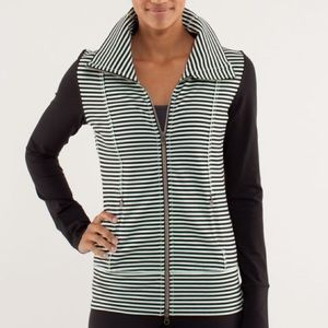 Lululemon Daily Yoga Jacket Classic Stripe Mint S4